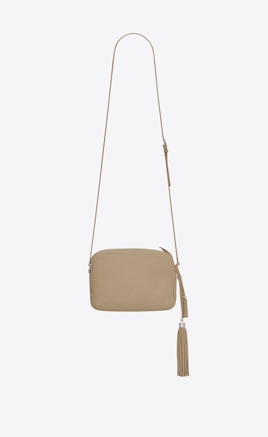 SAINT LAURENT Monogram Lou Donna Bag LOU beige scuro in pelle b_V4