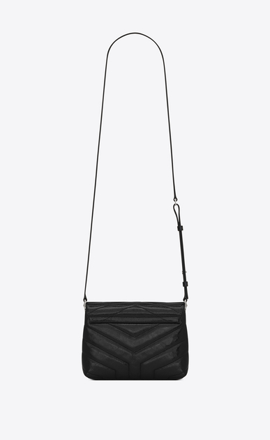 "SAINT LAURENT Mini bags Loulou Donna Bag Toy LOULOU a tracolla nera in vernice matelassé a ""Y"" b_V4"
