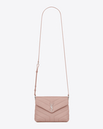 "SAINT LAURENT Monogramme Loulou D Toy LOULOU Strap Bag in Pale Blush ""Y"" Matelassé Leather f"