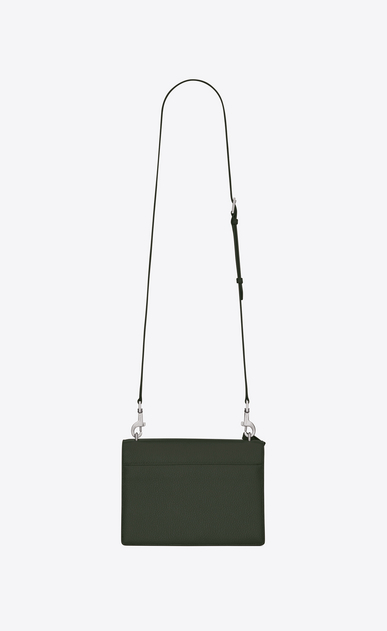 SAINT LAURENT Sunset D Medium SUNSET Satchel in Army Green Grained Leather b_V4