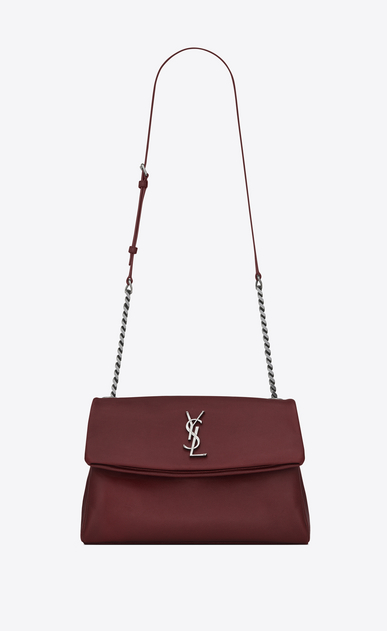SAINT LAURENT West Hollywood Damen mittlere west hollywood tasche aus dunkelrotem leder mit struktur a_V4