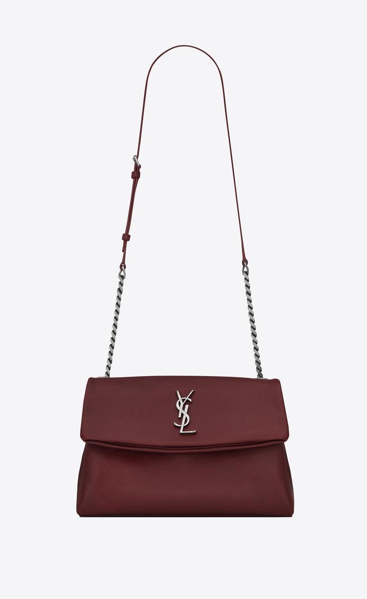 medium west hollywood bag in dark red textured leather. Description and  details. MONOGRAM SAINT LAURENT ... 20a610d7fd