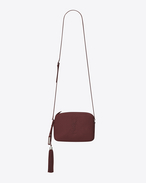 SAINT LAURENT Camera bag D Small LOU Camera Bag in Dark Red Leather f