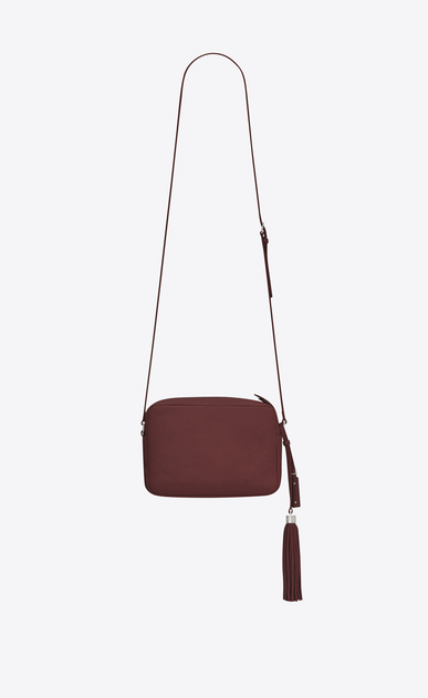 SAINT LAURENT Monogram Lou Woman LOU Camera Bag in Dark Red Leather b_V4