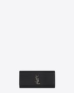 SAINT LAURENT MONOGRAM KATE CLUTCH D Small KATE Clutch in Black Leather f