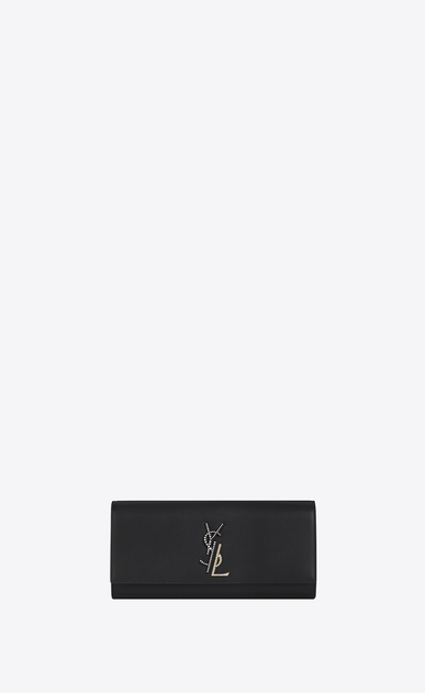 SAINT LAURENT MONOGRAM KATE CLUTCH D Small KATE Clutch in Black Leather a_V4