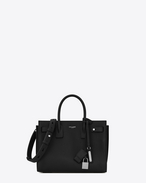 SAINT LAURENT Sac De Jour Supple D Baby SAC DE JOUR SOUPLE Bag nera in pelle martellata f