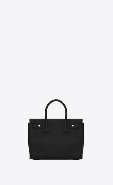SAINT LAURENT Sac De Jour Supple D Baby SAC DE JOUR SOUPLE Bag in Black Grained Leather b_V4