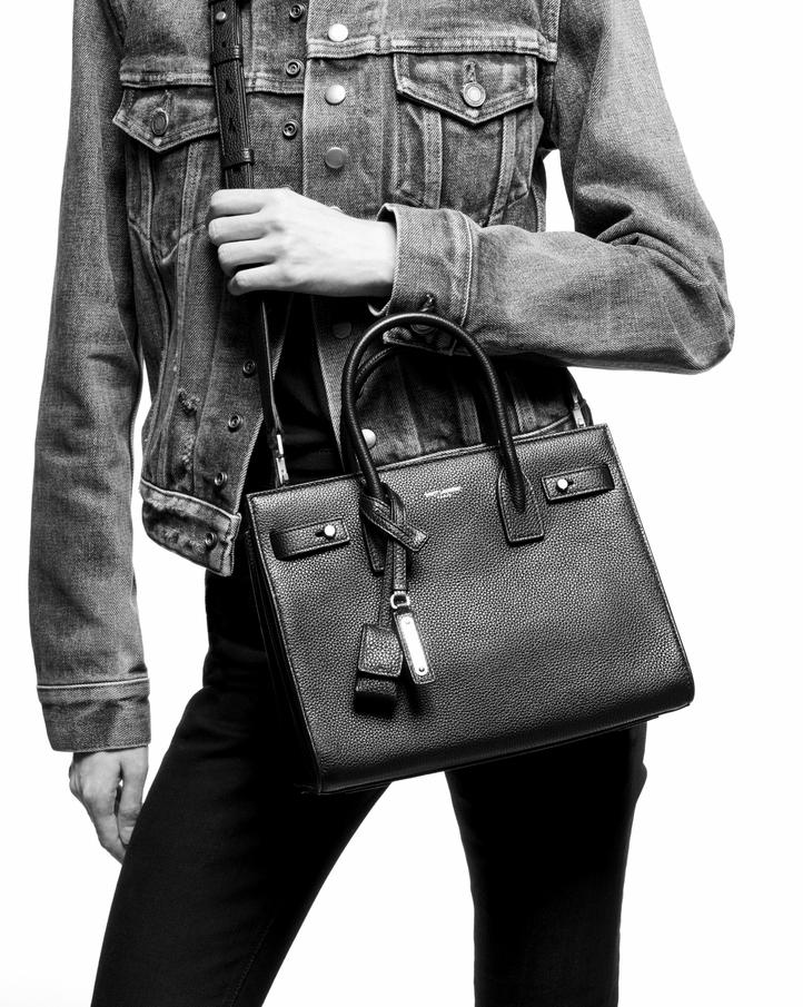 Saint Laurent Sac De Jour Baby In Grained Leather  f9df58512db48
