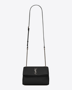 SAINT LAURENT West Hollywood D Small WEST HOLLYWOOD Bag in Black Grain de Poudre Textured Leather f