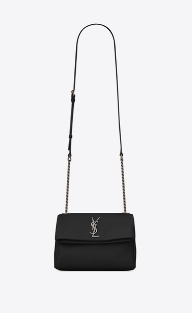 SAINT LAURENT West Hollywood D Small WEST HOLLYWOOD Bag in Black Grain de Poudre Textured Leather a_V4