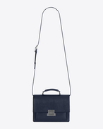 SAINT LAURENT Bellechasse D Mittlere BELLECHASSE Tasche aus marineblauem Leder f