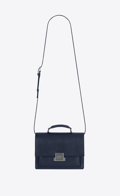 SAINT LAURENT Bellechasse D Medium BELLECHASSE SAINT LAURENT Bag in Navy Blue Leather a_V4