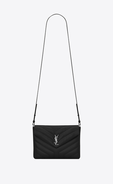 "SAINT LAURENT Mini bags Loulou Donna Custodia per tablet LOULOU nera in pelle matelassé a ""Y"" a_V4"