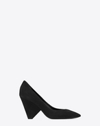 SAINT LAURENT Niki D NIKI 85 Pump Shoe in Black Suede f