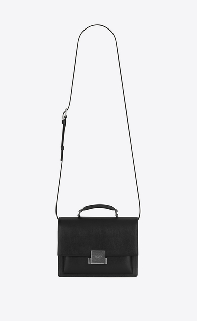 SAINT LAURENT Bellechasse Woman Medium BELLECHASSE SAINT LAURENT bag in black elaphe with white polka dots V4
