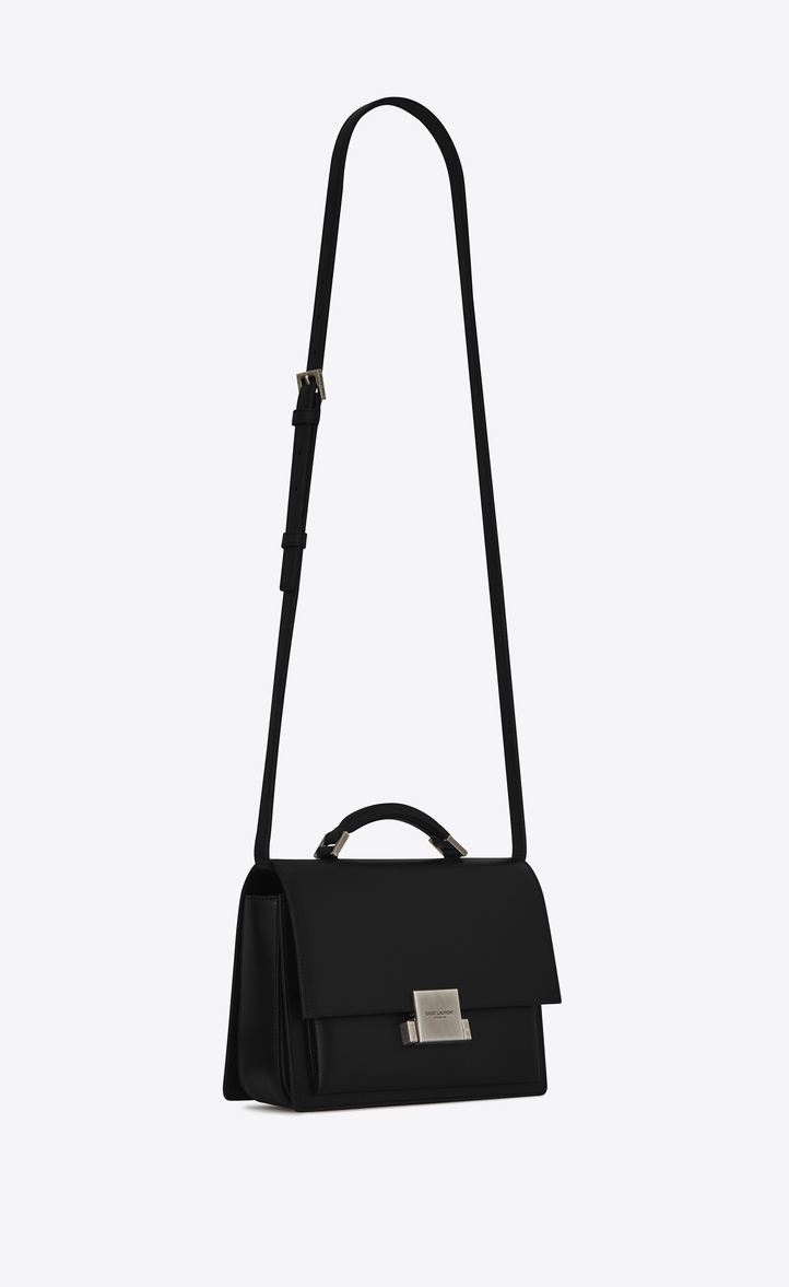 Zoom Medium Bellechasse Saint Lau Bag In Black Leather Auxiliary View