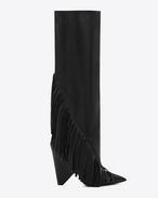 SAINT LAURENT Niki D NIKI 105 kniehohe Stiefel aus schwarzem Leder f