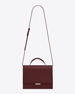 SAINT LAURENT Babylone D Medium BABYLONE Top Handle Bag in Dark Red Leather f