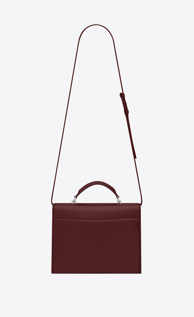 SAINT LAURENT Babylone Woman Medium BABYLONE Top Handle Bag in Dark Red Leather b_V4