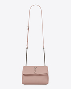 SAINT LAURENT West Hollywood D Petit sac WEST HOLLYWOOD en cuir texturé grain-de-poudre blush pâle f