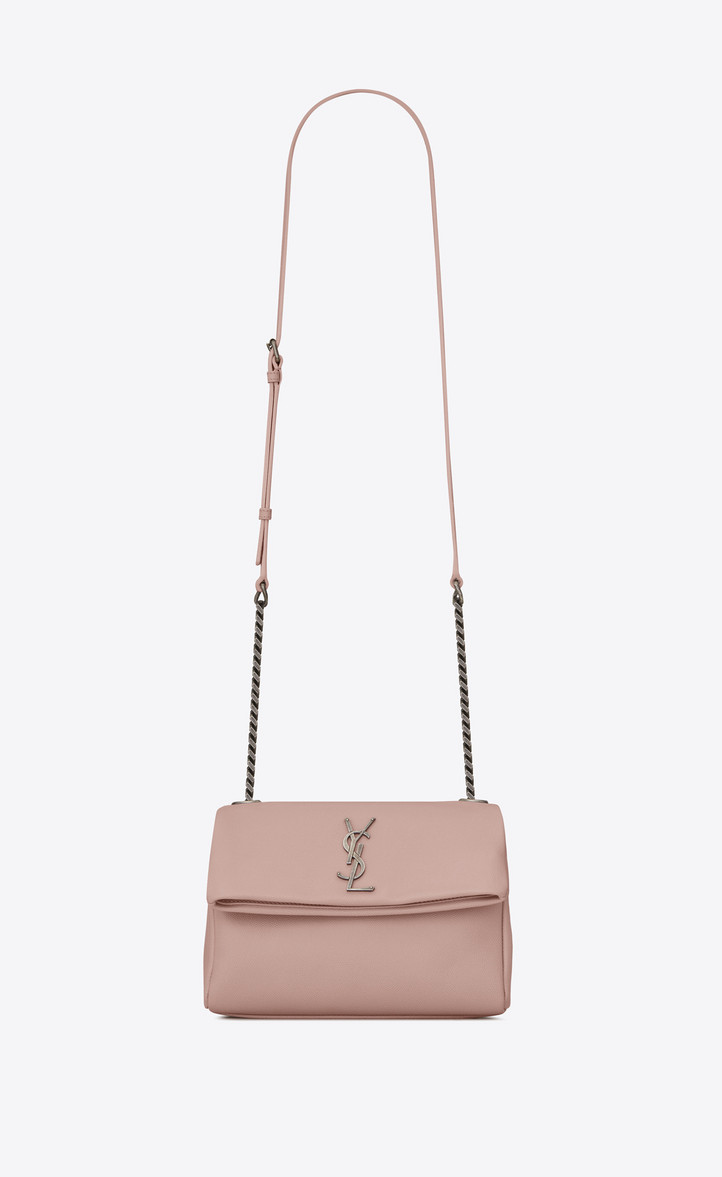 Saint Laurent Small West Hollywood Bag In Pale Blush Textured ... 85f4ec3ab5c5b
