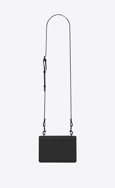 SAINT LAURENT Mini bags sunset D SUNSET Strap Wallet in Black Grained Leather b_V4