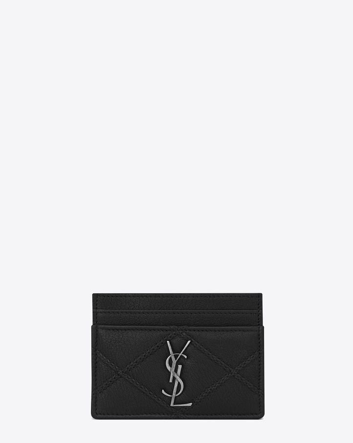 Saint laurent porte cartes college en cuir matelass for Porte carte ysl