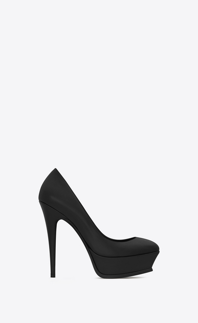 SAINT LAURENT Tribute D Classic TRIBUTE 105 Pump in Black Leather a_V4