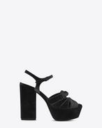 FARRAH 80 Bow Sandal in Black Velvet