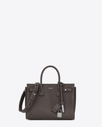SAINT LAURENT Sac De Jour Supple D Baby SAC DE JOUR SOUPLE Bag in Grey Grained Leather f