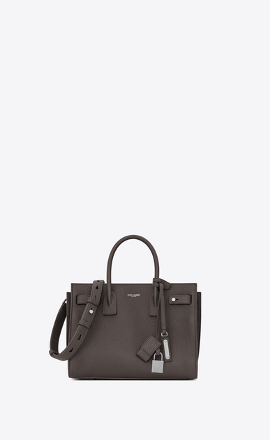 SAINT LAURENT Sac De Jour Supple D Baby SAC DE JOUR SOUPLE Bag in Grey Grained Leather a_V4