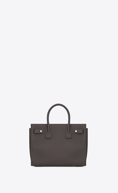 SAINT LAURENT Sac De Jour Supple D Baby SAC DE JOUR SOUPLE Bag in Grey Grained Leather b_V4
