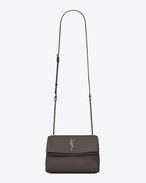 SAINT LAURENT West Hollywood D Petit sac WEST HOLLYWOOD en cuir texturé grain-de-poudre gris f