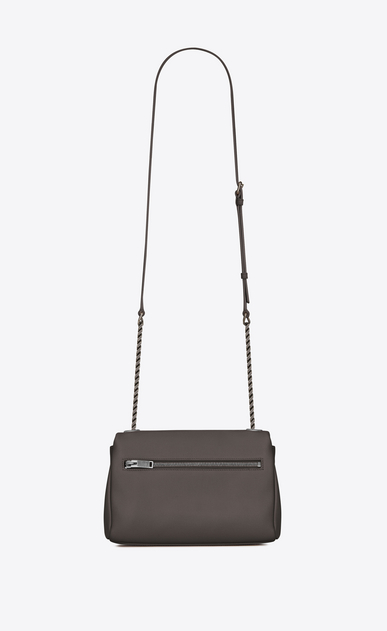 SAINT LAURENT West Hollywood Damen kleine west hollywood tasche aus grauem leder mit struktur b_V4