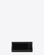 SAINT LAURENT Clutch D Clutch SMOKING nera in vernice f