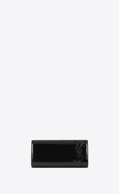 SAINT LAURENT Clutches D SMOKING Clutch in Black Patent Leather a_V4