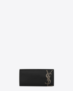 SAINT LAURENT Clutch D Clutch SMOKING nera in pelle f