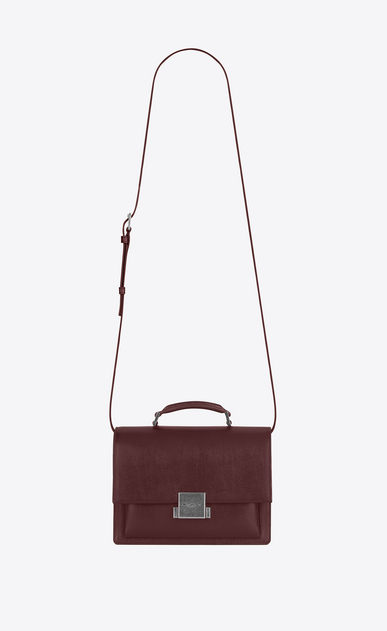 SAINT LAURENT Bellechasse D Medium BELLECHASSE SAINT LAURENT Bag in Dark Red Leather a_V4