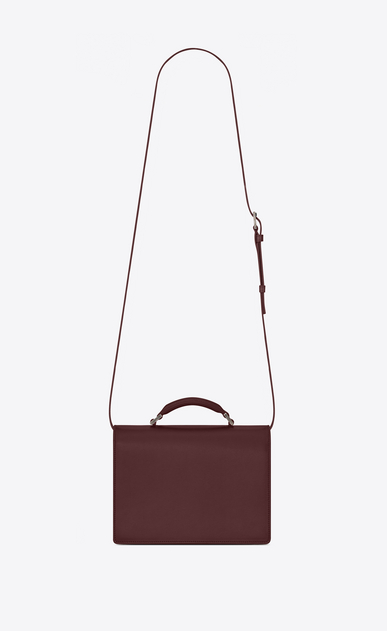 SAINT LAURENT Bellechasse D Medium BELLECHASSE SAINT LAURENT Bag in Dark Red Leather b_V4