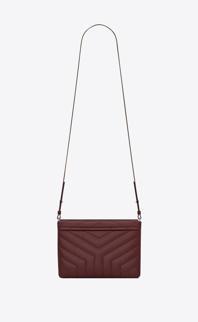 "SAINT LAURENT Monogramme Loulou D LOULOU Tablet Holder in Dark Red ""Y"" Matelassé Leather b_V4"