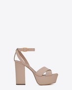 SAINT LAURENT Farrah D FARRAH 80 Crisscross Sandal in Light Rose Leather f