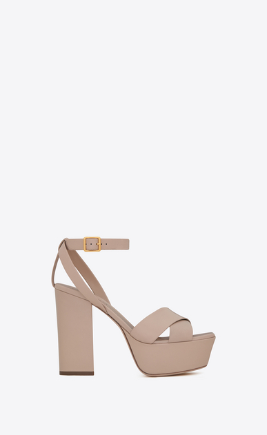 SAINT LAURENT Farrah D FARRAH 80 Crisscross Sandal in Light Rose Leather a_V4