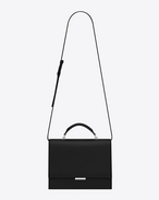Medium BABYLONE Top Handle Bag in Black Leather
