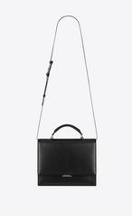Saint Laurent Medium Babylone Top Handle Bag In Black