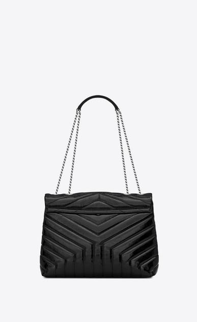 """SAINT LAURENT Monogramme Loulou D Medium LOULOU Chain Bag in Black """"Y"""" Matelassé Patent Leather b_V4"""