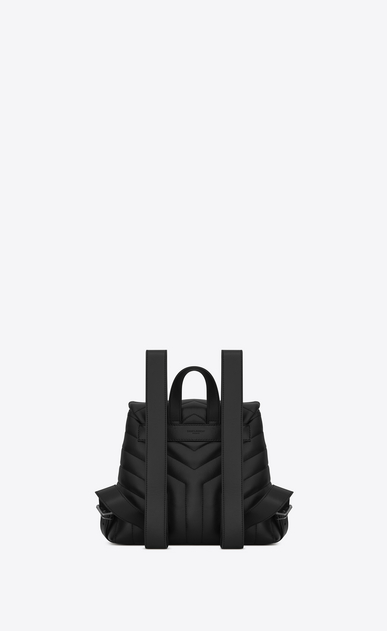 "SAINT LAURENT Monogramme Loulou Woman Small LOULOU Backpack in Black ""Y"" Matelassé Leather b_V4"