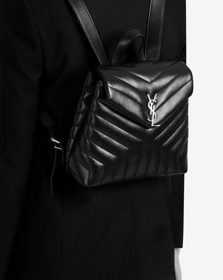 Saint Laurent Loulou Small Backpack In Matelass 233 Y