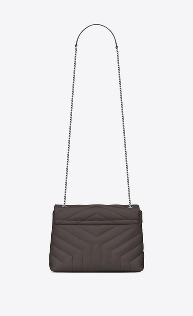 "SAINT LAURENT Monogramme Loulou D Small LOULOU Chain Bag in Grey ""Y"" Matelassé Leather b_V4"