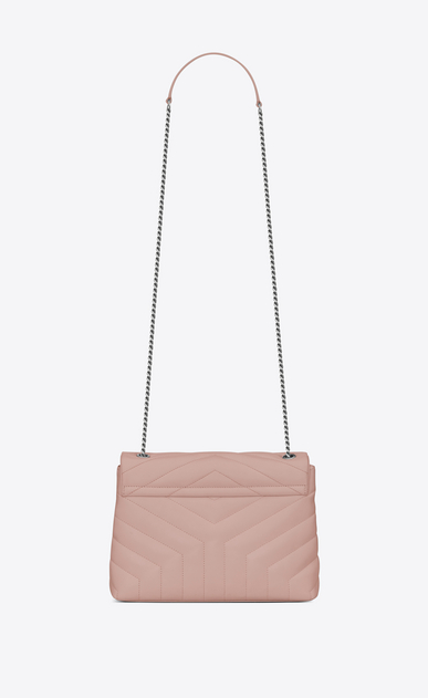 "SAINT LAURENT Monogramme Loulou Woman Small LOULOU Chain Bag in Pale Blush ""Y"" Matelassé Leather b_V4"
